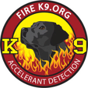 Fire K9.org Black Lab Decal - 3 inch