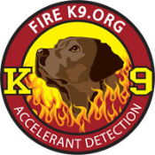 Fire K9.org Embroidered Patch - Chocolate Lab
