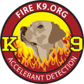 Fire K9.org Embroidered Patch - Yellow Lab